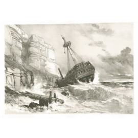 Shipwreck Sussex James Duffield Harding lithograph