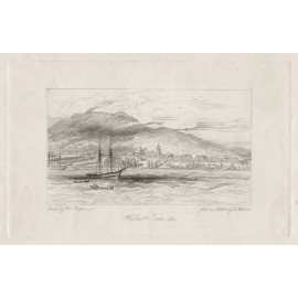 Hobart Town 1834 Etching William Chapman C Wheeler 1834
