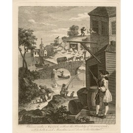 Satire on False Perspective william hogarth engraving