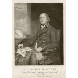Captain James Huddart portrait engraving hydrography