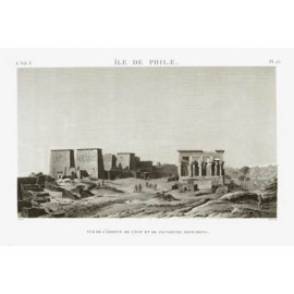 Island Philae Napoleon Description Egypt engraving