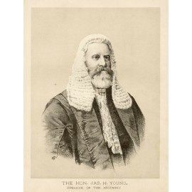 Hon Jas. Young Speaker of the Assembly  lithograph H Baron C1889