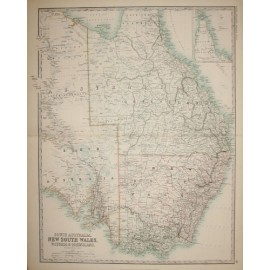 johnston south australia nsw victoria queensland antique map