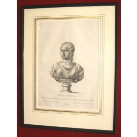 Julia Domna Roman matron sculpture engraving bust
