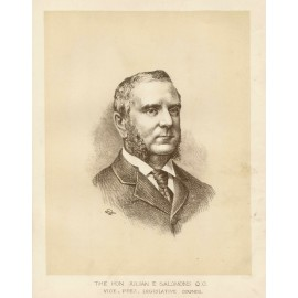 Julian Salomons QC  lithograph portrait