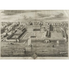 Kip Somerset House London antique architectural engraving