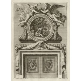 Le Pautre Fireplace French architectural antique engraving print
