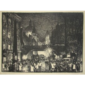 St Pauls from Ludgate Circus lithograph