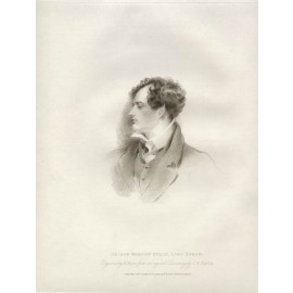 Lord Byron portrait engraving etching Harlow