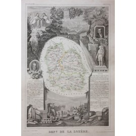 lozere levasseur french department antique map
