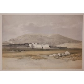 Medinet Abou Thebes David Roberts lithograph Egypt folio