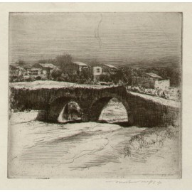 Bridge Mortimer Menpes etching