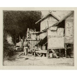 India Burma Mortimer Menpes etching