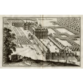 Villers Cotterets Merian French chateau engraving