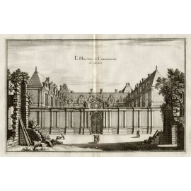 Chevreuse Hotel Merian French engraving
