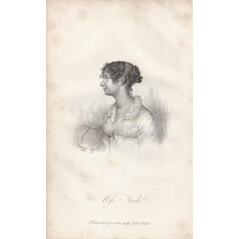 Miss Nash portrait engraving print actor