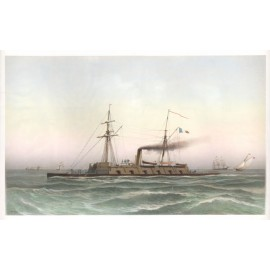 Morel Fatio French naval ship lithograph