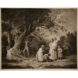 Children Bird Nesting Mezzotint Ward George Morland
