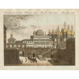 Palace Czars Moscow Bertuch antique engraving