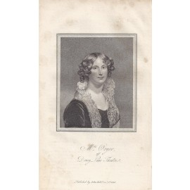 Mrs Orger Theatre portrait engraving print actor
