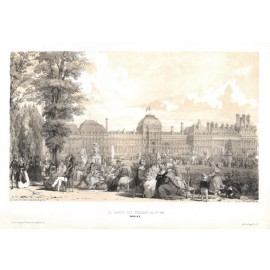 Jardins des Tuileries Paris William Parrott lithograph