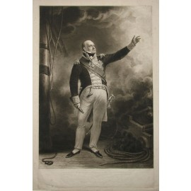 Edward Lord Viscount Exmouth Mezzotint Turner Beechey