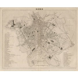 rome city plan antique map