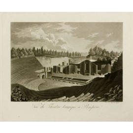 Theatre Pompeii Aquatint engraving Fumagalli