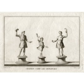 Antiquities of Heculaneum Statuettes engraving Casanova