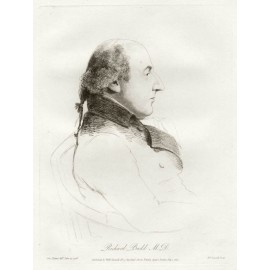 Richard Budd medical portrait Dance Daniell etching