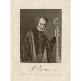 Richard Owen portrait engraving 1861