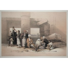 David Roberts lithograph Egypt Temple Amun Thebes