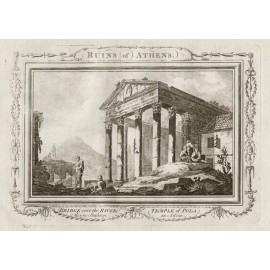 Ruins Athens engraving ancient Greece architecture