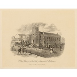 St Pauls Church Melbourne Lithograph ST Gill