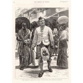 Highland Piper Kandy Ceylon antique engraving Sri Lanka