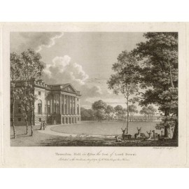 Thorndon Hall Essex Watts Seats Nobility antique engraving