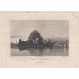 India Tomb Shere Shah Elliot antique engraving