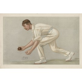 Lobster Digby Jephson antique Vanity Fair cricket chromolithograph