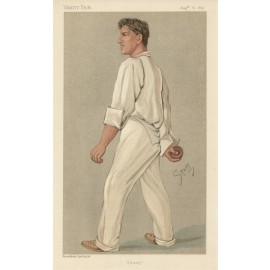 Sammy Samuel Woods antique Vanity Fair cricket chromolithograph