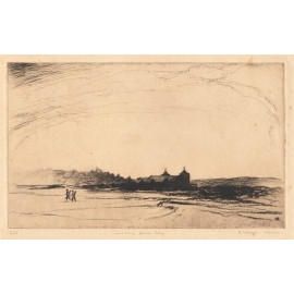 Twosome Rose Bay etching Ralph Malcolm Warner golf