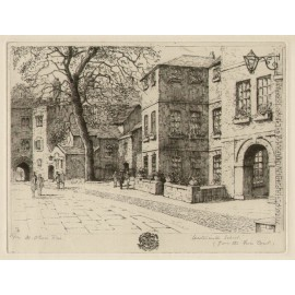 Westminster School Fives Court London etching Oliver Rae