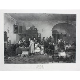 Rent Day engraving Abraham Raimbach David Wilkie