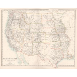 johnston united states western usa antique map
