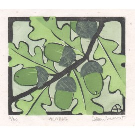 acorns Aileen Brown limited edition signed linocut