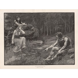 old world love tale engraving amy sawyer