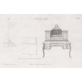 writing table Chippendale furniture print director