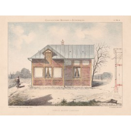 petite maison french architectural chromolithograph