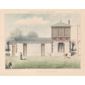 lavoir buanderie french architectural chromolithograph