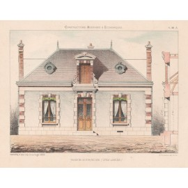maison bourgeoise french architectural chromolithograph