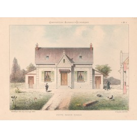 petite maison rurale french architectural chromolithograph